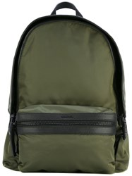 Moncler Zipped Backpack Men Polyamide Polyester One Size Green