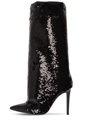 Alexandre Vauthier 100Mm Laura Sequined Tall Boots Black