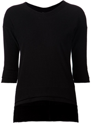 Barbara I Gongini Textured Sweater Black