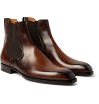Berluti Burnished Leather Chelsea Boots