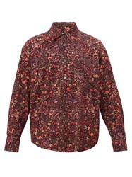 Our Legacy Coco 70S Floral Print Cotton Corduroy Shirt Multi