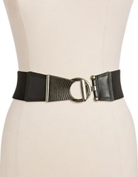 Fashion Focus Stretch Belt Black Silver