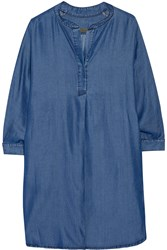 Enza Costa Henley Tencel Shirt Dress Blue