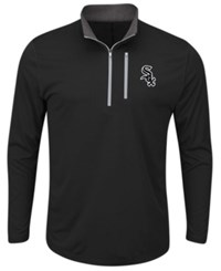 Majestic Men's Chicago White Sox Six Four Three Quarter Zip Pullover Black