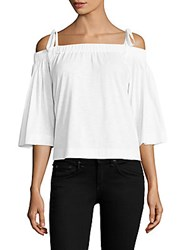 Feel The Piece Sunset Off Shoulder Top White