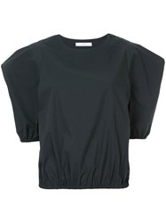 Astraet Structured Sleeve T Shirt Blue