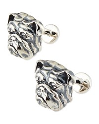 Sterling Bulldog Cuff Links Stephen Webster Red