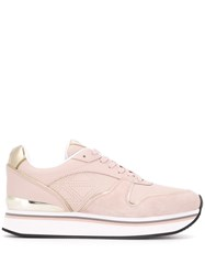 Emporio Armani Lace Up Sneakers Pink