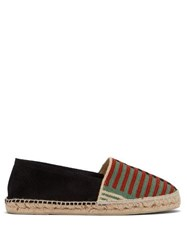 Guanabana Woven Front Suede Espadrilles Black Multi