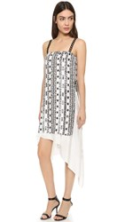3.1 Phillip Lim Bohemian Sequin Dress White Copper