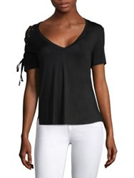 Feel The Piece Amy Lace Up T Shirt Black