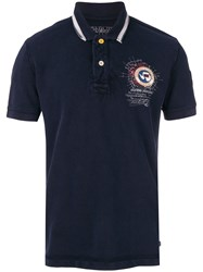Napapijri Logo Patch Polo Shirt Blue