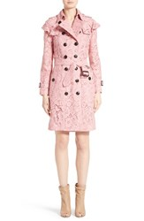 Burberry Women's Stanhill Ruffle Lace Trench Coat