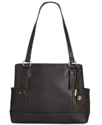Giani Bernini Sandalwood Tote Only At Macy's Black