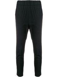 Lareida Dropped Crotch Cropped Trousers Black