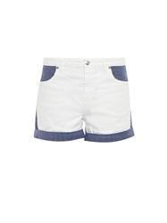See By Chloe Pinstripe Panel Cotton Blend Shorts