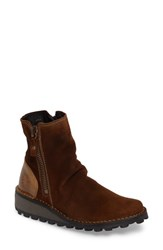 Fly London Women's Mong Boot Camel Oil Suede