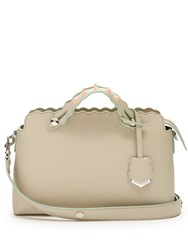 Fendi By The Way Small Embellished Leather Shoulder Bag Cream Multi