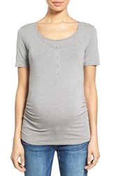 Women's Nom Maternity Ruched Nursing Maternity Tee