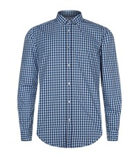 Boss Slim Fit Checked Shirt Blue