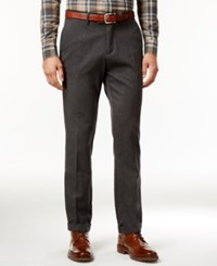 Tommy Hilfiger Men's Big And Tall Matthew Twill Pants Charcoal Grey Heather