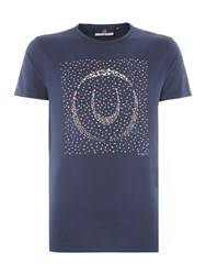 Duck And Cover Limit T Shirt French Navy