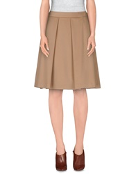 Alberto Biani Knee Length Skirts Camel