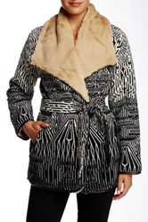 Twelfth St. By Cynthia Vincent Faux Fur Lined Chindo Wrap Multi