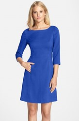 Vince Camuto Women's Crepe A Line Dress Cobalt