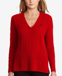 Polo Ralph Lauren Cable Knit Sweater Martin Red