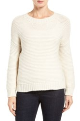 Eileen Fisher Lofty Recycled Cashmere Blend Sweater White