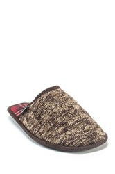 Muk Luks Gavin Faux Fur Slipper Brown