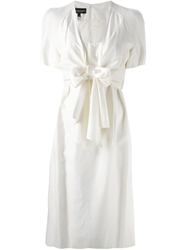 Jean Louis Scherrer Vintage Front Bow Dress Nude And Neutrals