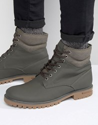 Call It Spring Desert Laceup Boots Green