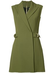Balmain Sleeveless Day Dress Women Polyamide Acetate Viscose 40 Green