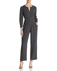 Emporio Armani Gray Pleated Cropped Jumpsuit