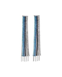 Fragments For Neiman Marcus Mixed Crystal Fringe Drop Earrings Silver