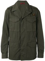 Fay Button Up Field Jacket Green