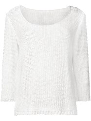 Charlott Fine Knit Jumper White