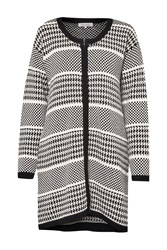 Great Plains Ginny Dogtooth Oversized Cardigan Cream