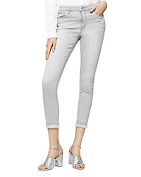 Sanctuary Cropped Raw Hem Jeans In Greyson