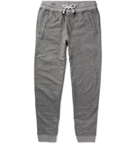 Brunello Cucinelli Tapered Melange Cotton Jersey Sweatpants Gray