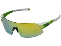 Tifosi Optics Podium Xc Interchangeable White Green Athletic Performance Sport Sunglasses Gray