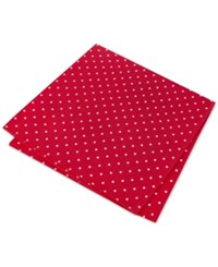 Tommy Hilfiger Men's Hill Dot Pocket Square Red