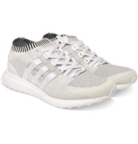Adidas Originals Eqt Support Ultra Rubber Trimmed Primeknit Sneakers White