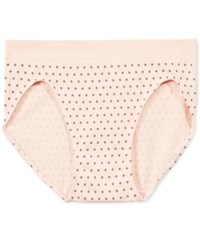 Bali One Smooth U All Over Smoothing High Cut Brief 2362 Blushing Pink Dot