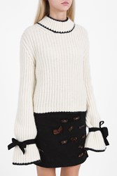 J.W.Anderson Chunky High Neck Knit White
