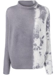 Suzusan Cashmere Two Tone Sweater Grey