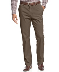Haggar Straight Fit Wrinkle Free Performance Pants Mocha
