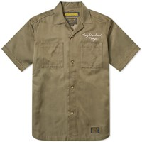 Neighborhood Short Sleeve Mil Souvenir Shirt Green